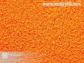 SB061小号橙色印花胶珠