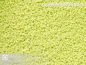 SB060小号黄绿印花胶珠